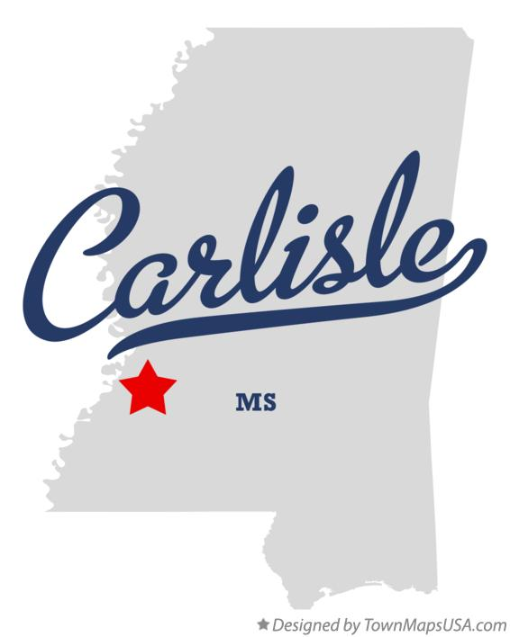Map of Carlisle Mississippi MS
