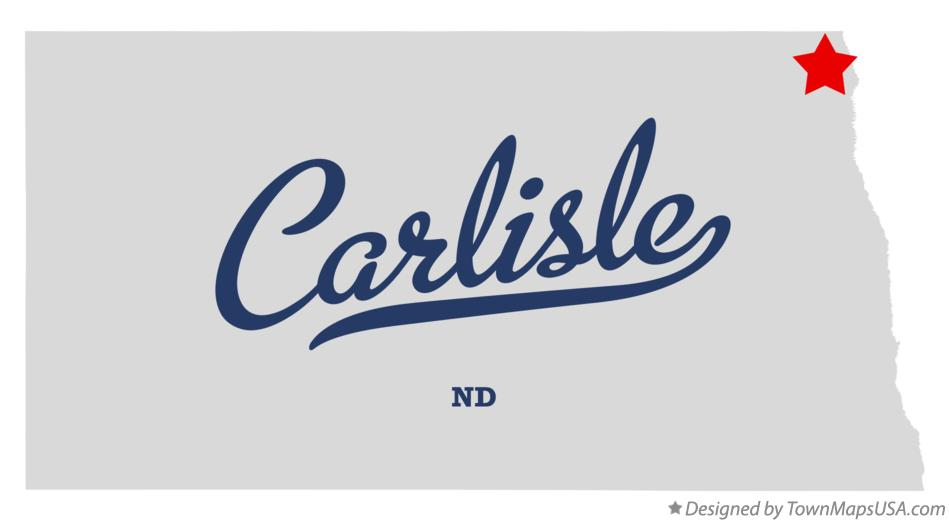 Map of Carlisle North Dakota ND