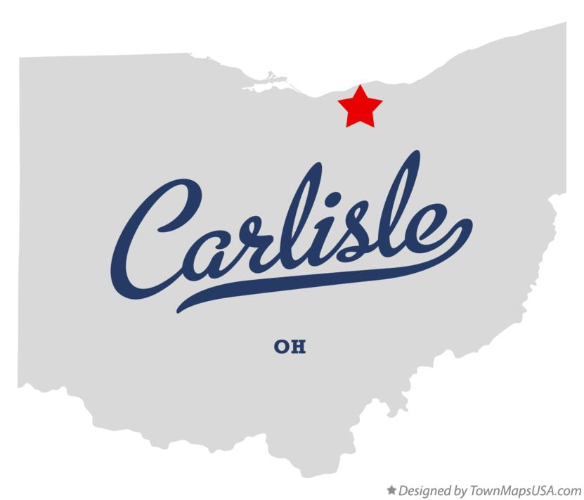 Map of Carlisle Ohio OH