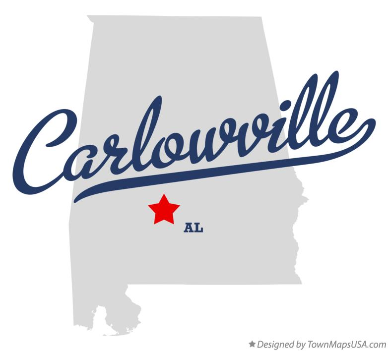 Map of Carlowville Alabama AL