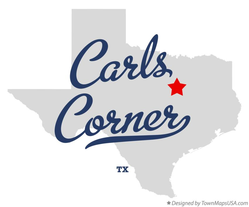 Map of Carls Corner Texas TX