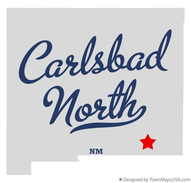 Map of Carlsbad North New Mexico NM
