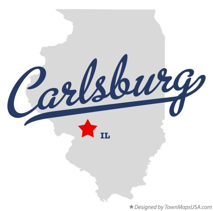 Map of Carlsburg Illinois IL