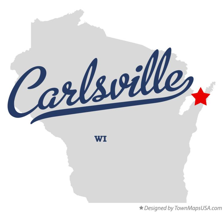 Map of Carlsville Wisconsin WI