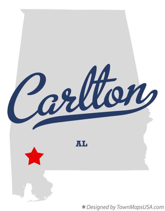 Map of Carlton Alabama AL