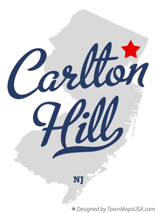 Map of Carlton Hill New Jersey NJ