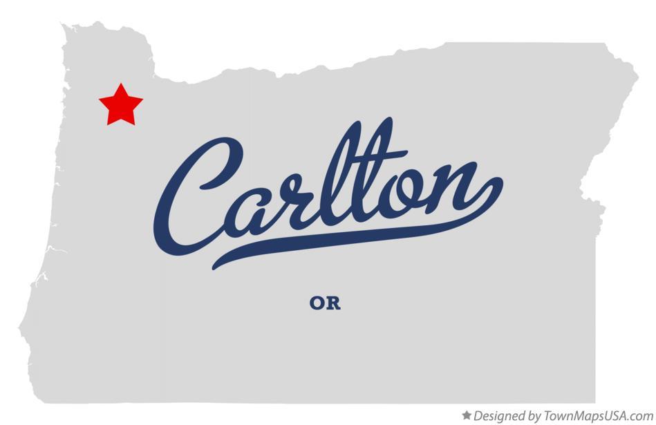 Map Of Carlton Oregon Map of Carlton, OR, Oregon