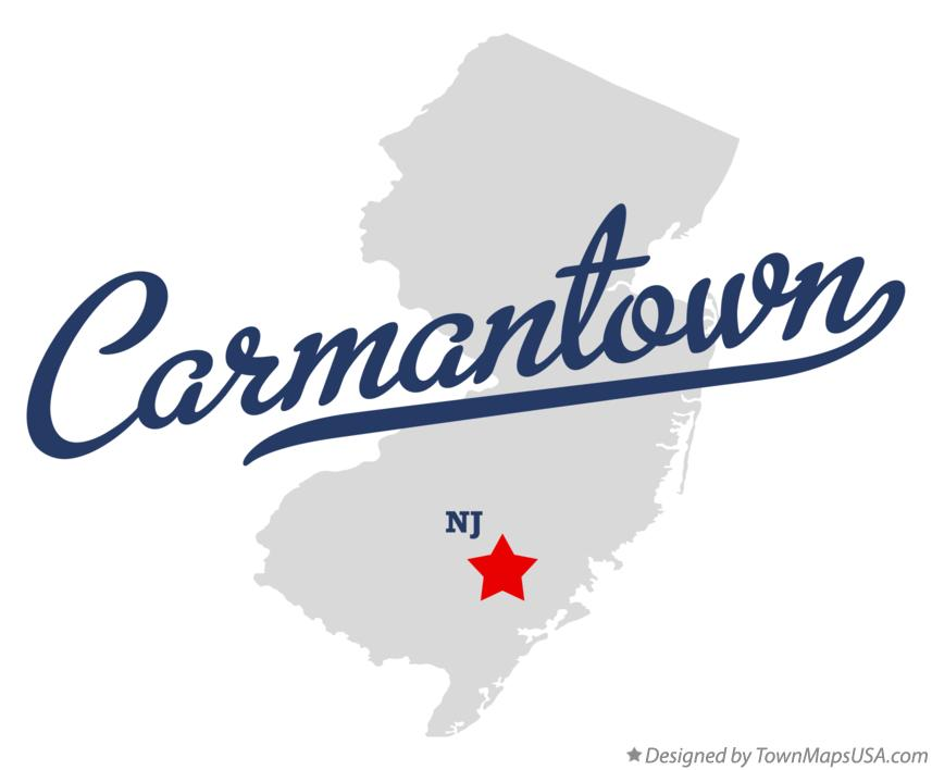 Map of Carmantown New Jersey NJ