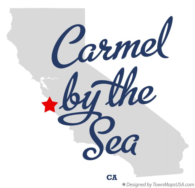 Map of Carmel-by-the-Sea California CA