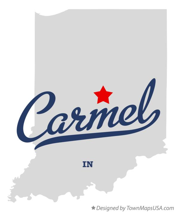 Map of Carmel, IN, Indiana