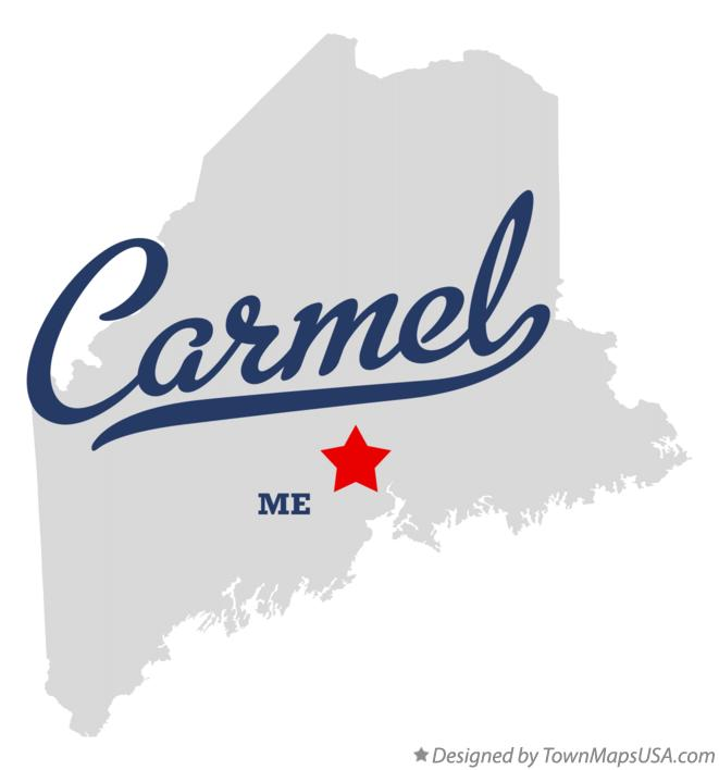 Map of Carmel Maine ME