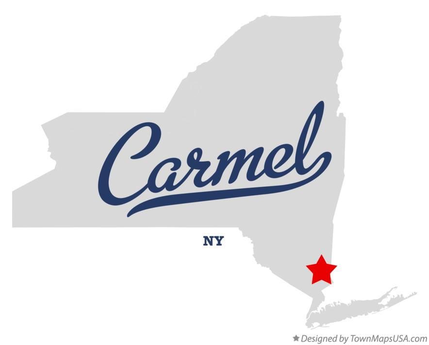 Map of Carmel New York NY