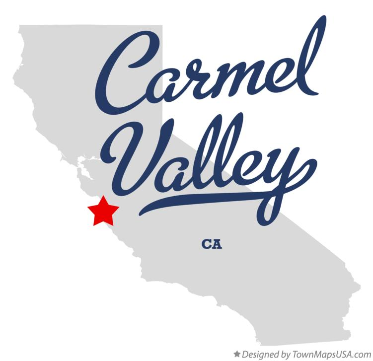 Map of Carmel Valley California CA