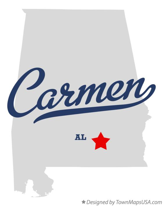 Map of Carmen Alabama AL