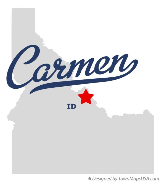 Map of Carmen Idaho ID