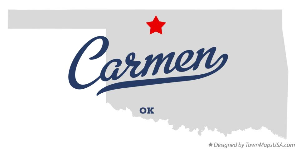 Map of Carmen Oklahoma OK