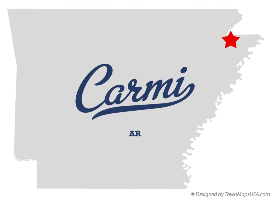 Map of Carmi Arkansas AR