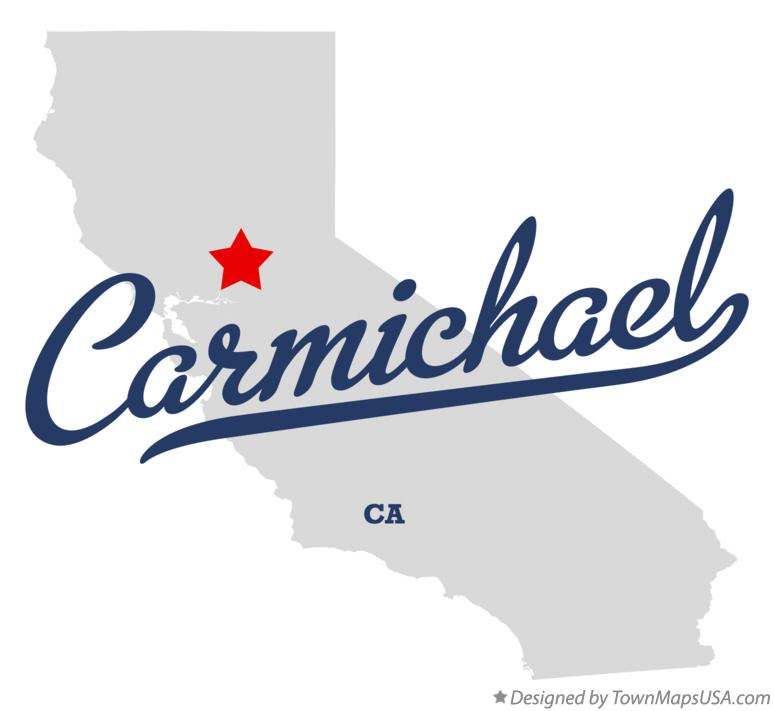 Map of Carmichael California CA