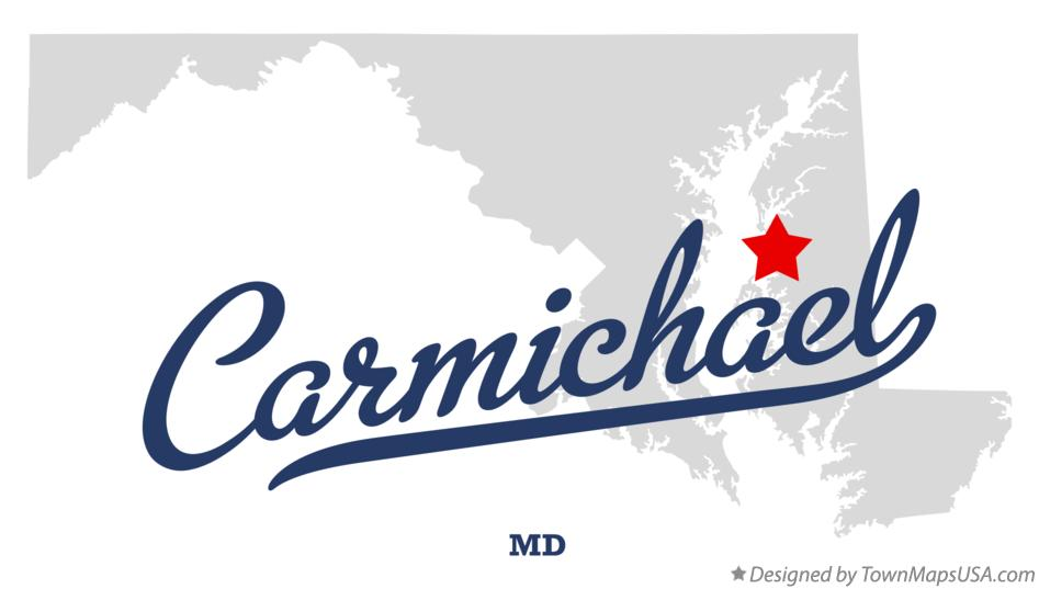 Map of Carmichael Maryland MD