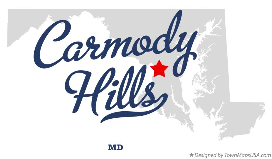 Map of Carmody Hills Maryland MD