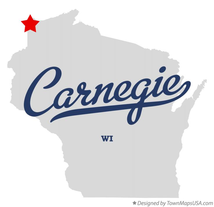 Map of Carnegie Wisconsin WI