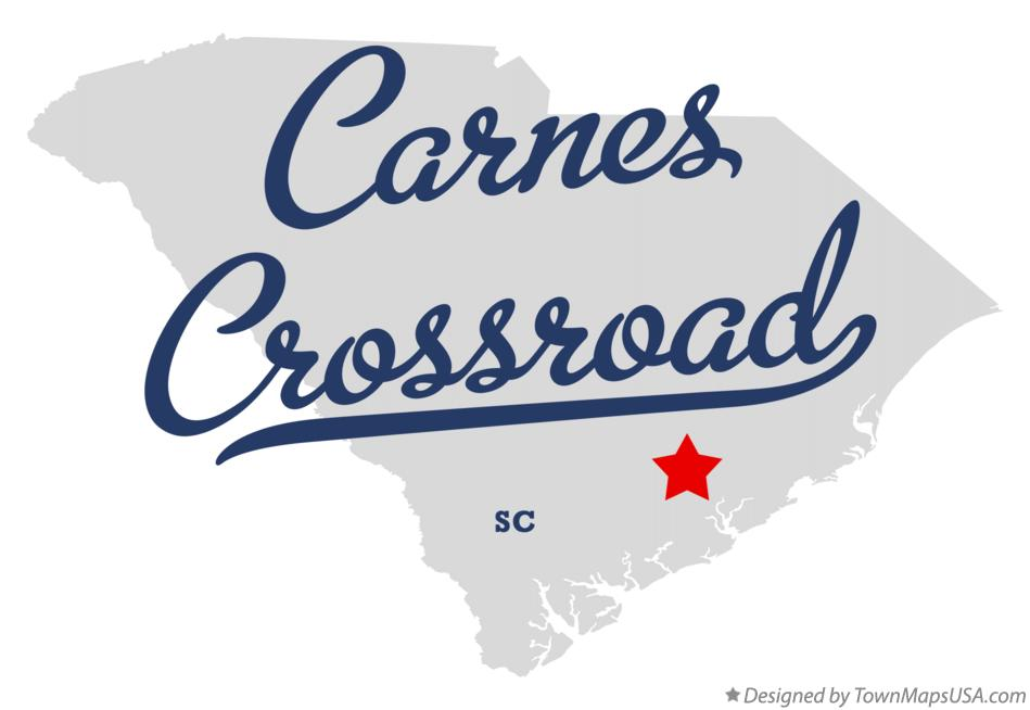 Map of Carnes Crossroad South Carolina SC