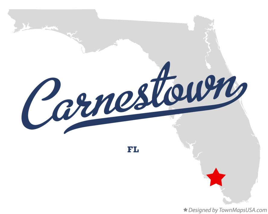 Map of Carnestown Florida FL