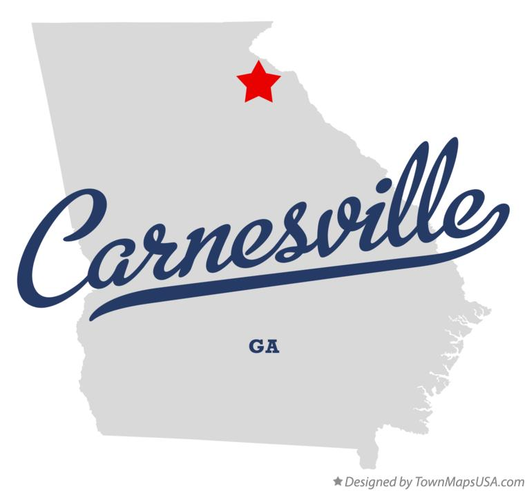 Map of Carnesville Georgia GA