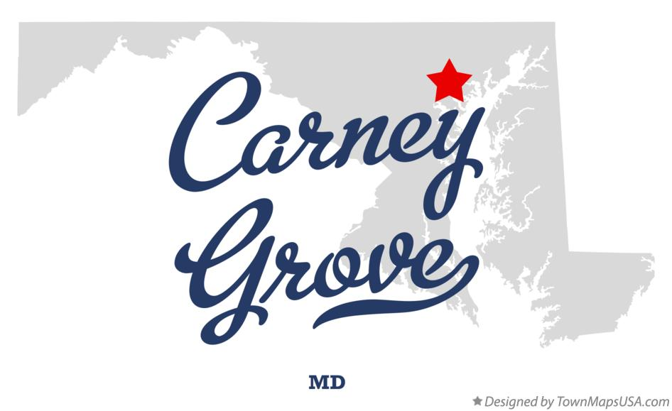 Map of Carney Grove Maryland MD