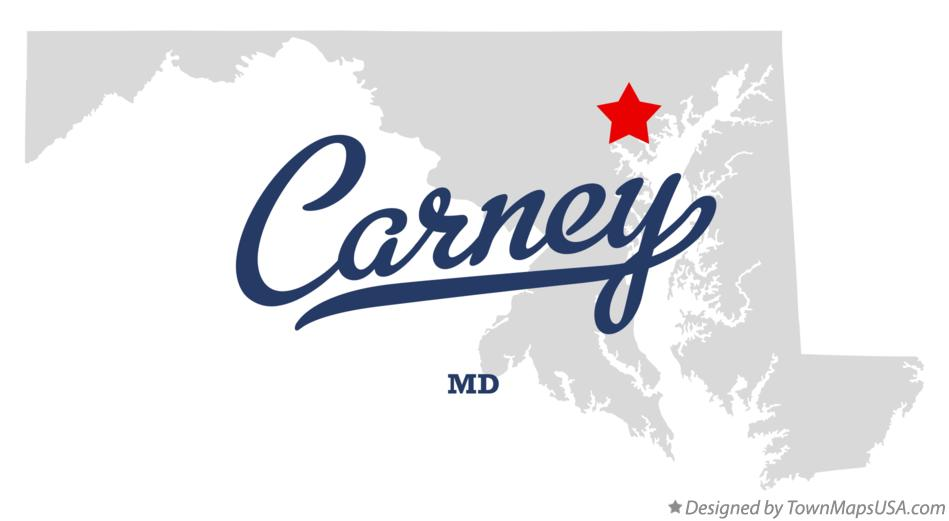 Map of Carney Maryland MD