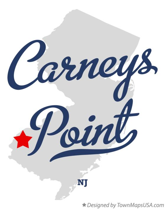 Map of Carneys Point New Jersey NJ