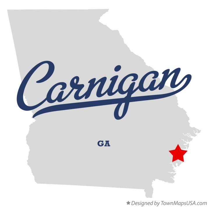 Map of Carnigan Georgia GA