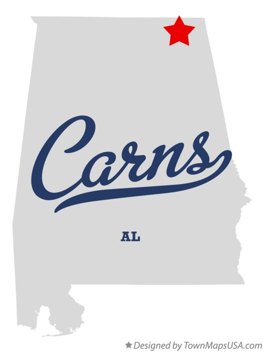 Map of Carns Alabama AL