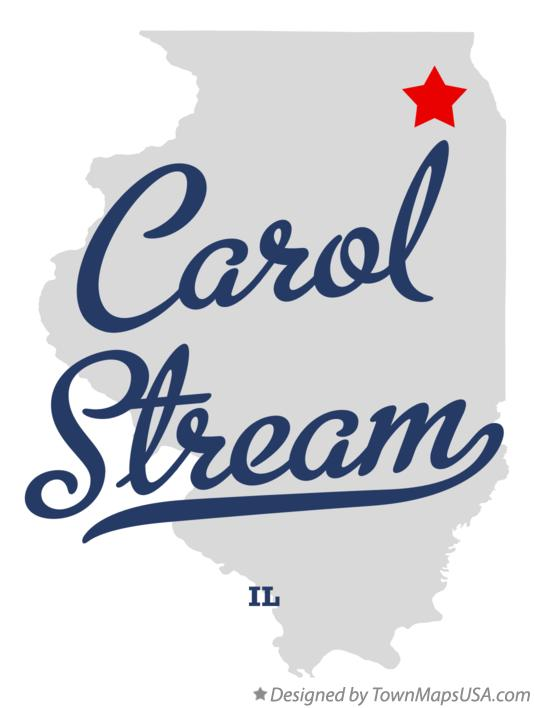 Map of Carol Stream Illinois IL