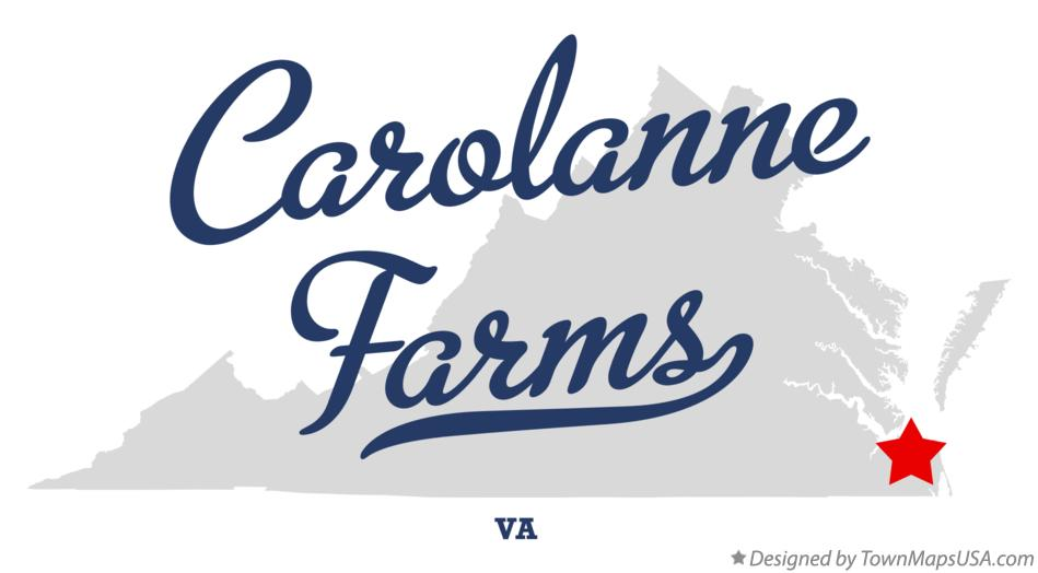Map of Carolanne Farms Virginia VA