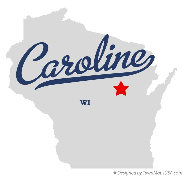 Map of Caroline Wisconsin WI
