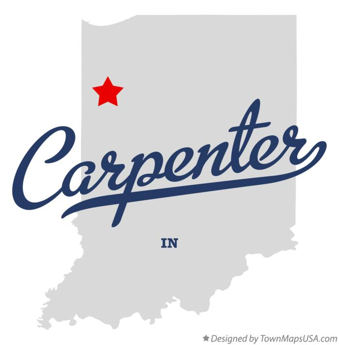 Map of Carpenter Indiana IN