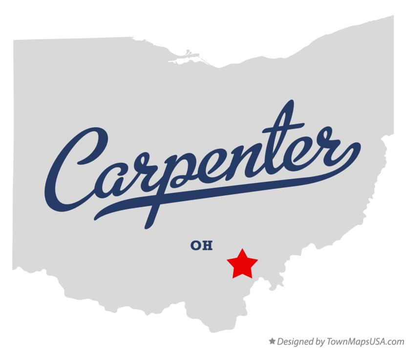 Map of Carpenter Ohio OH