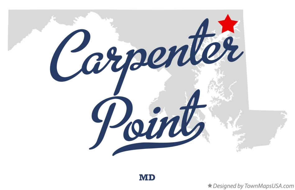 Map of Carpenter Point Maryland MD