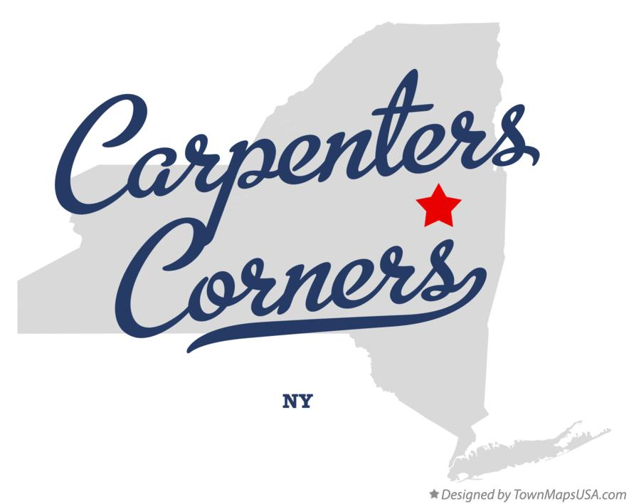 Map of Carpenters Corners New York NY