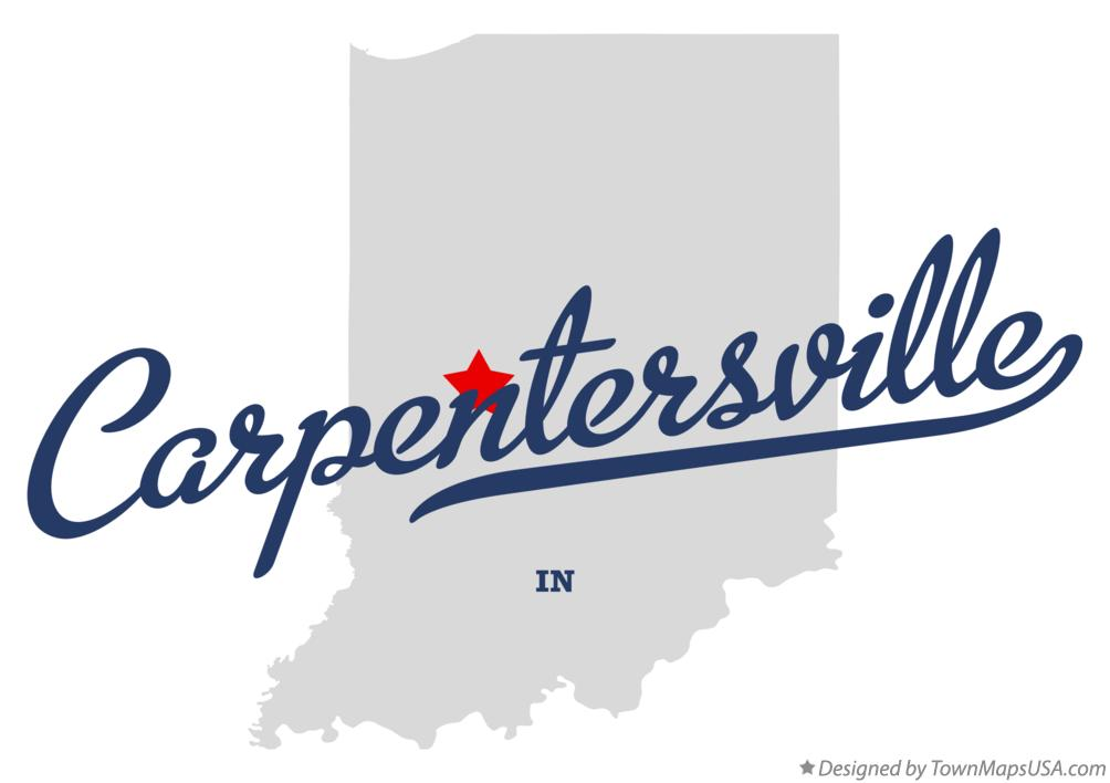 Map of Carpentersville Indiana IN