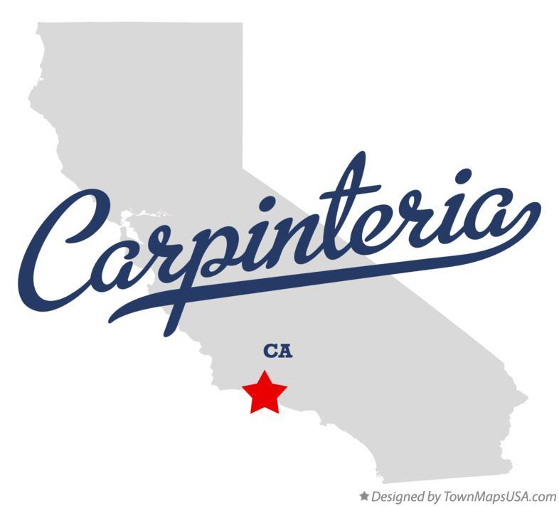 Map Of Carpinteria Ca California