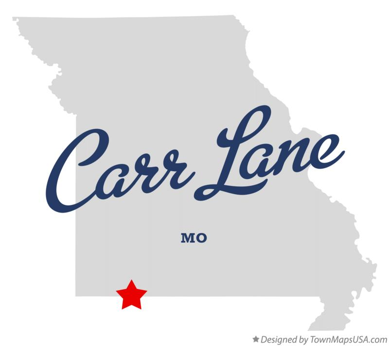 Map of Carr Lane Missouri MO