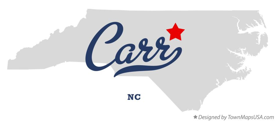 Map of Carr North Carolina NC