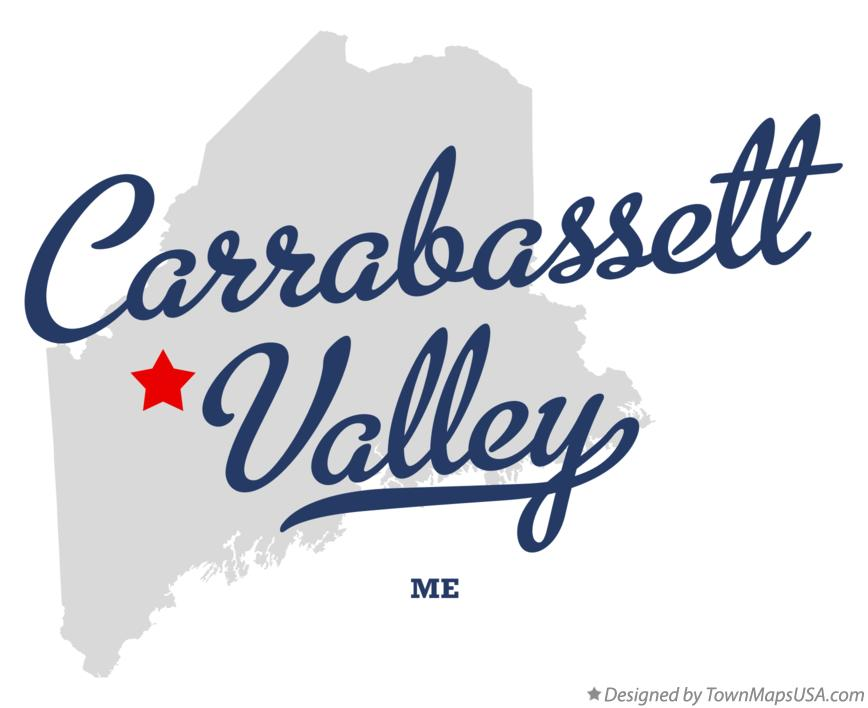 Map of Carrabassett Valley Maine ME