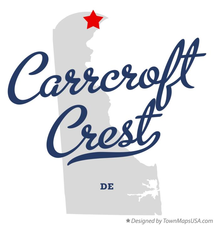 Map of Carrcroft Crest Delaware DE