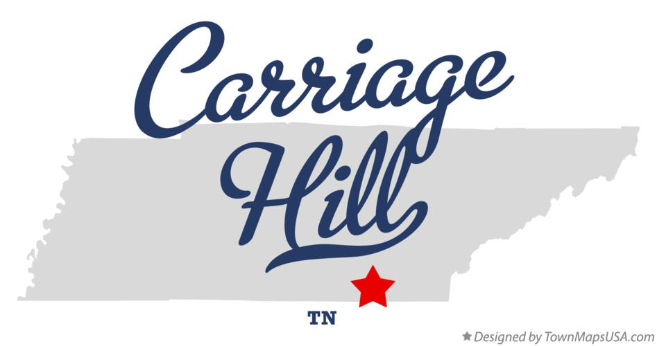 Map of Carriage Hill Tennessee TN