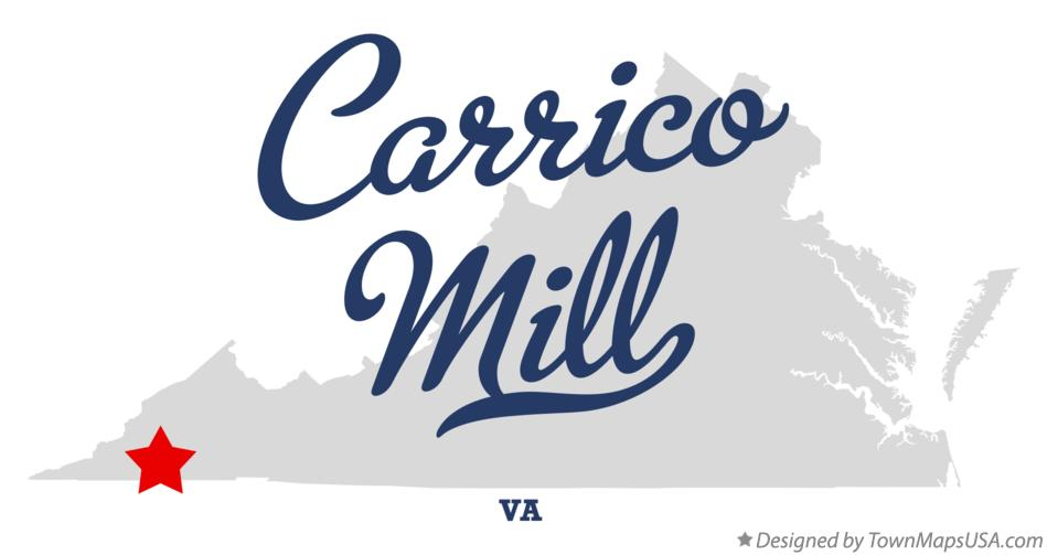Map of Carrico Mill Virginia VA