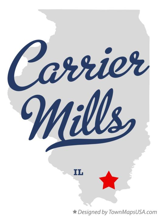 Map of Carrier Mills Illinois IL