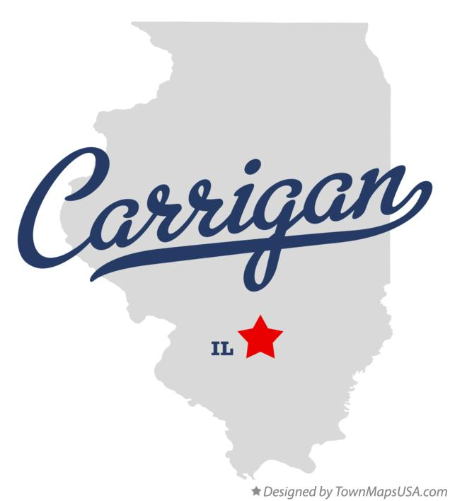 Map of Carrigan Illinois IL